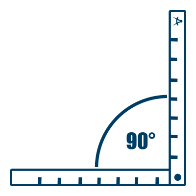Bauer Maßstabfabrik - Hersteller von Zollstöcken und Messwerkzeugen - 90-Grad-Winkel