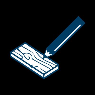 Bauer Maßstabfabrik - Hersteller von Zollstöcken und Messwerkzeugen - Schreibt auf Holz