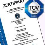Bauer Maßstabfabrik - Hersteller von Zollstöcken und Messwerkzeugen - TÜV Zertifikat