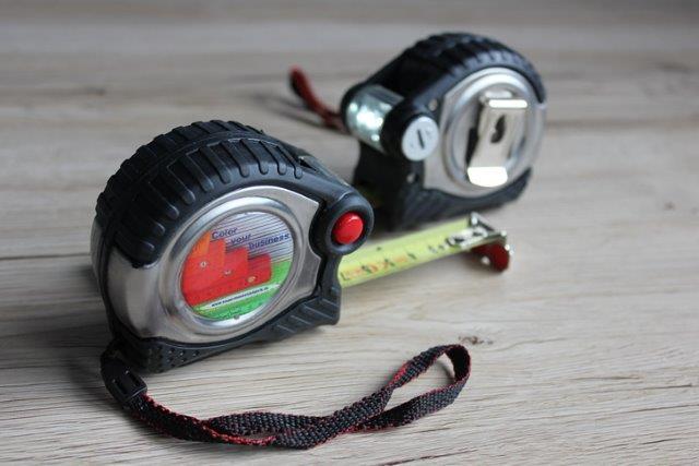 5m Rollbandmaß - Nylonband, Licht und Magnet