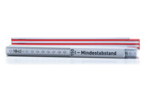 Mindestabstandmeter Bauer Maßstabfabrik
